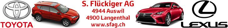Garage S. Flückiger AG, Auswil und Langenthal - Ihr TOYOTA und LEXUS Partner - Ihre Servicestelle für DAIHATSU